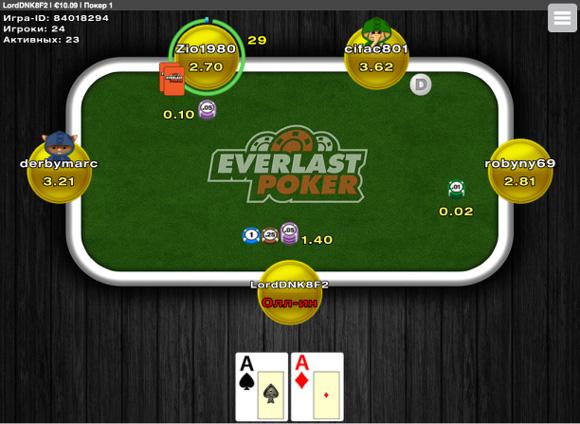 Everlast мобильный покер