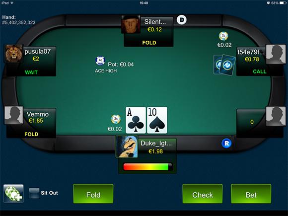 Играть в покер на iPad