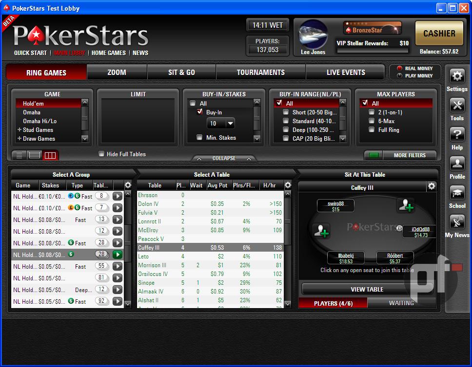 Покер старс скачать клиент