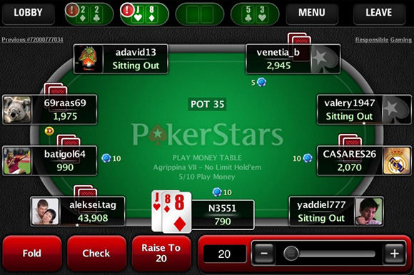 ПокерСтарс мобильное приложение
