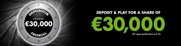 €30,000 Depositors' Freerolls  в сети MPN