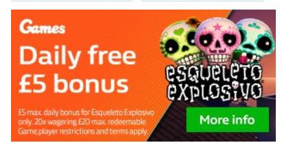 5 евро на слот Esqueleto Explosivo в WH